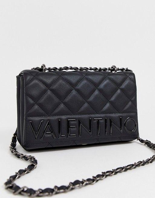 Valentino By Mario Valentino Black Quilted Foldover Shoulder Bag Valentino Black Shoulder Bag Outfit Mario Valentino Bags