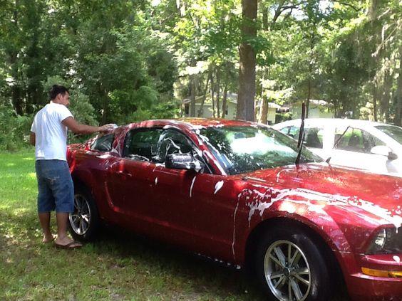 Lavando el carro