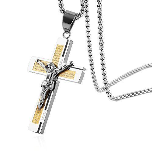 Saint Jesus Christ Pendant Chain Jewelry Gift 24K Gold Color Catholic Jesus Necklace Jewelry
