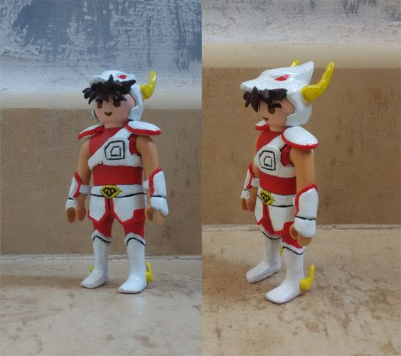 Playmobil custom saint seiya caballero pegaso clicks for Playmobil caballeros