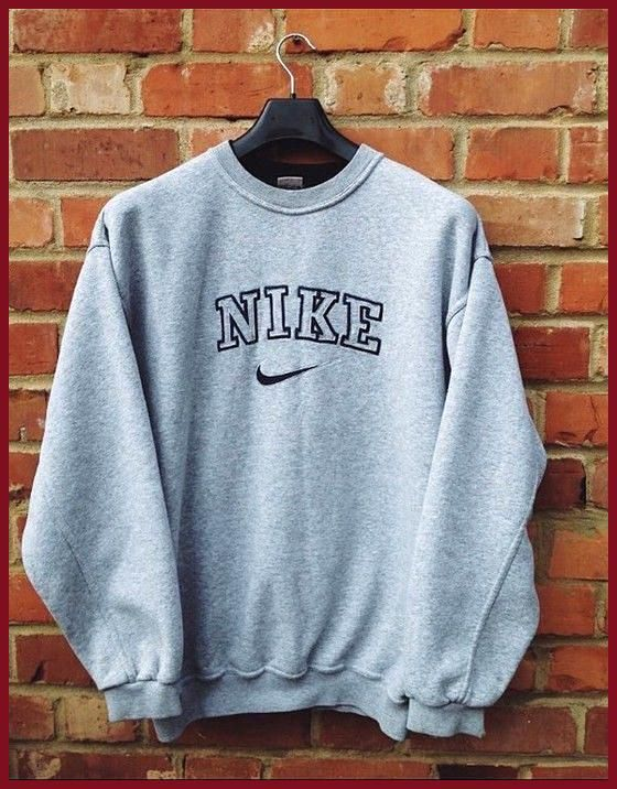 Pullover Nike Vintage Pullover Ubergrosser Pullover Sweat Shirt Winteroutfits Herbst Aestheticoutfits Goingoutou Outfit Vintage Klamotten Pullover