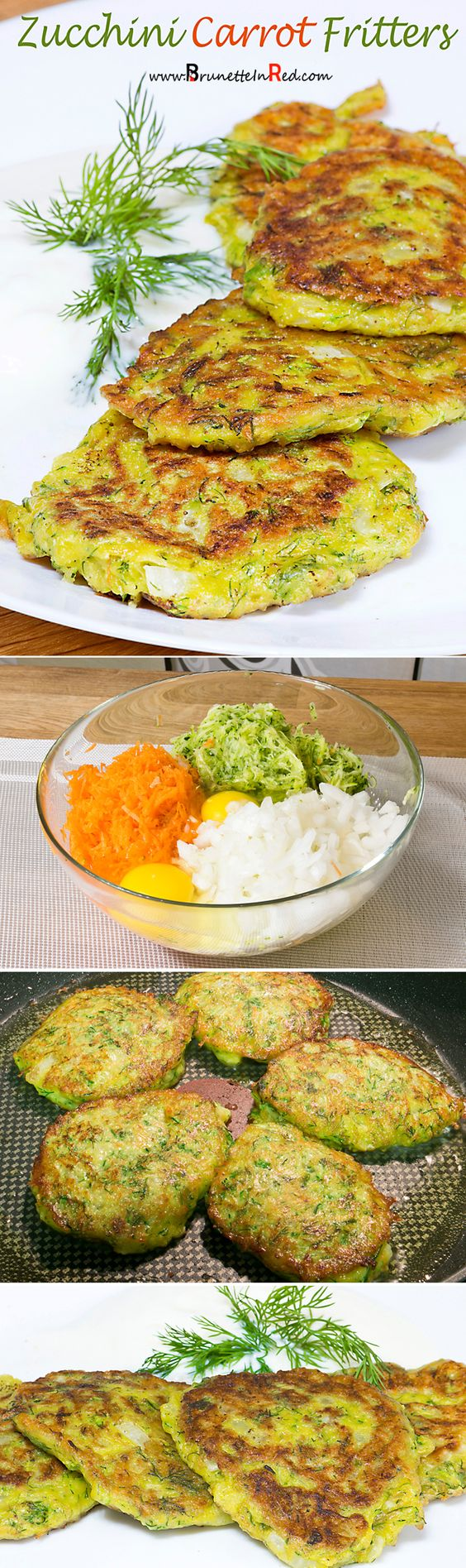 Zucchini Carrot Fritters | Fritters, Carrots and Zucchini
