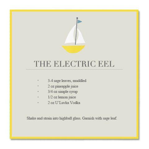 electric eel #cocktail #vodka
