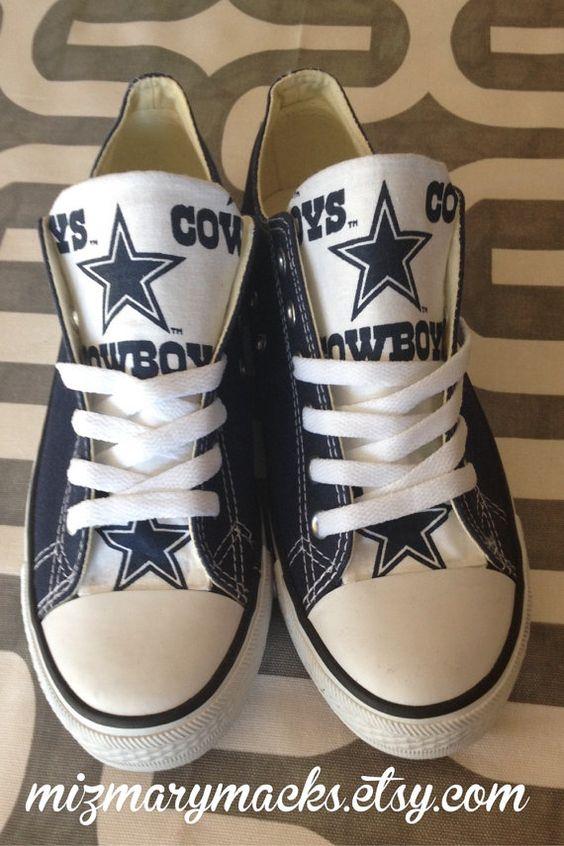 Dallas Cowboys Custom Converse Chuck Taylor Chucks navy shoe ...