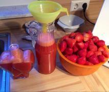 Erdbeerlimes (alkoholfrei, * ohne Zucker)