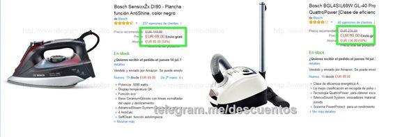 Plancha y aspirador Bosch desde 69 - http://ift.tt/29q6JRq