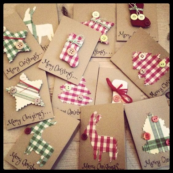 Lovely tags to make for Christmas gifts wrapped in brown paper.