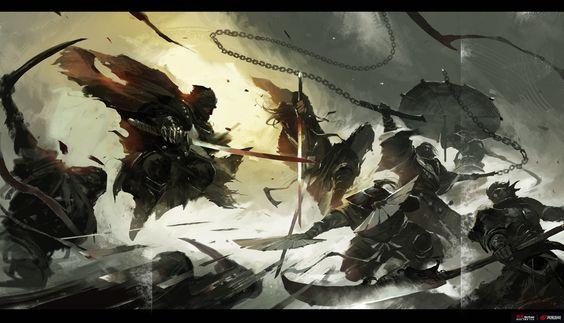 Siege, Wenjun Lin on ArtStation at https://www.artstation.com/artwork/siege-70fd2955-5936-4d56-aff6-2fac8abd8acf