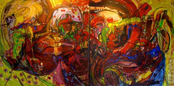 Artwork >> Jürgen Grafe >> OUR WONDERFUL PLANET EARTH #artworks, #wonderland, #bright, #masterpiece, #oiloncanvas