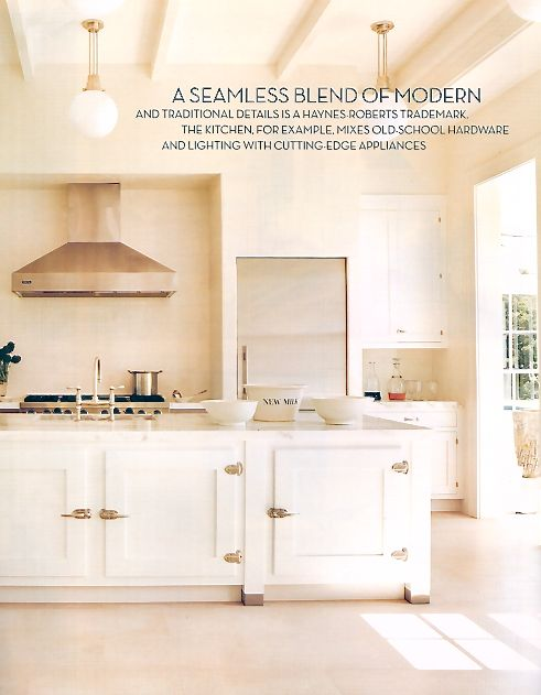 Light And Bright Kitchen Blends Classic With Contemporary: Blend Of Modern & Traditional