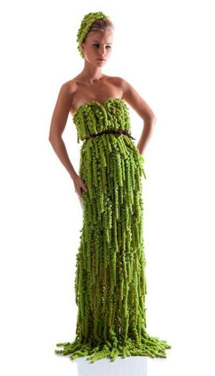 I'm sorry. I saw this and had to pin it. It is made out of amaranthus plants. It's ridiculous.