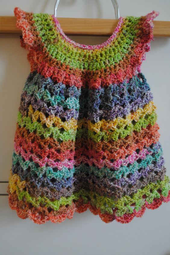 Free Crochet Angel Wing Dress Pattern : Angel Wings Pinafore By Maxine Gonser - Free Crochet ...