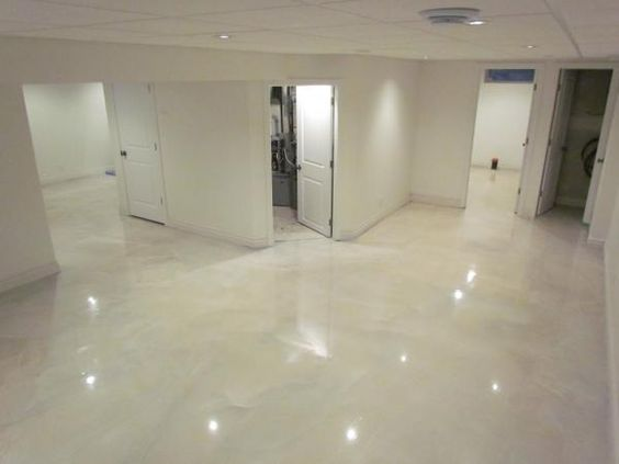 White Metallic Epoxy Floor Google Search Floors