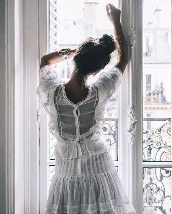 Sheer ,white , lovely