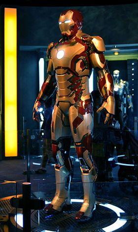 L'armure Iron Man du film Iron Man 3: la «Mark 42».