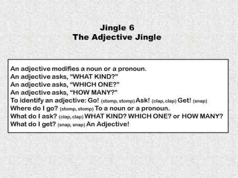 Shurley English Jingle 6 - The Adjective Jingle - 1st thru 8th Grade