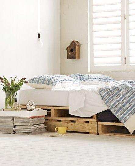 Paletes e caixotes para quarto cama decoração diy bed bedroom wood box