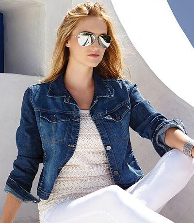 Topstitch Denim Jacket! Summer Fashion Basic! Timeless Fashion ...