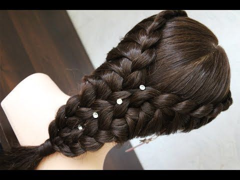A Simple Hairstyle Very Beautiful Hair Style For Girls Hair Styles Hairstyle Braided Hairstyles Updo