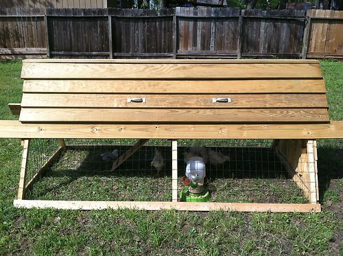 Handcrafted Backyard Chicken Tractor - Moveable Coop
