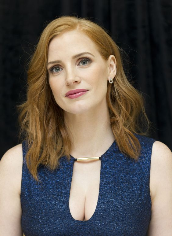Jessica Chastain at 'The Martian' Press Conference at the Ritz Carlton Hotel on August 1, 2015 in New York City.