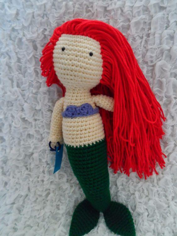 Amigurumi Free Pattern Doll : Amigurumi Mermaid - FREE Crochet Pattern / Tutorial by ...