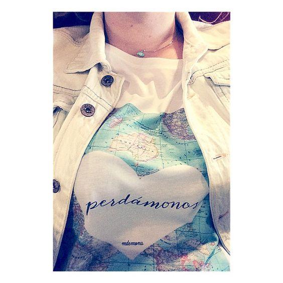 Mi camiseta para perderme por el mundo.