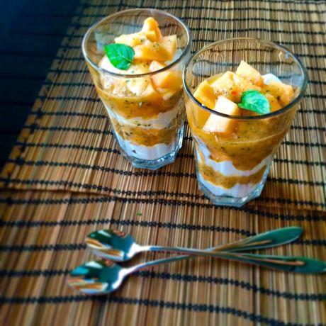 Inserat auf Ron Orp Zürich: Gesundes Melonen-Minz Dessert