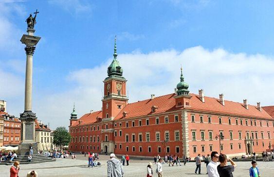 Vista da cidade velha de Varsóvia - Polônia