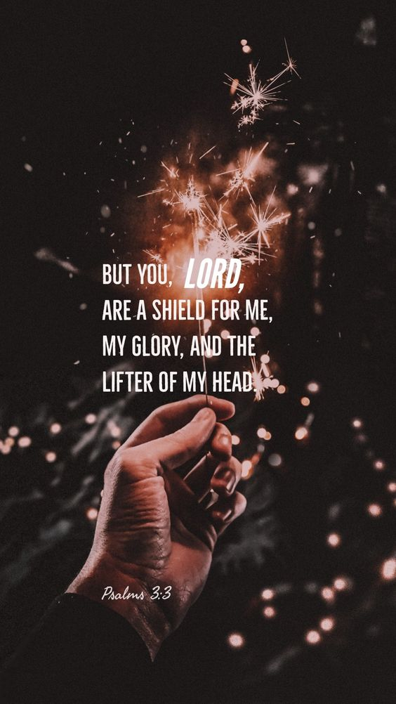 But You, O Lord, are a shield for me, my glory, and the lifter of my head.