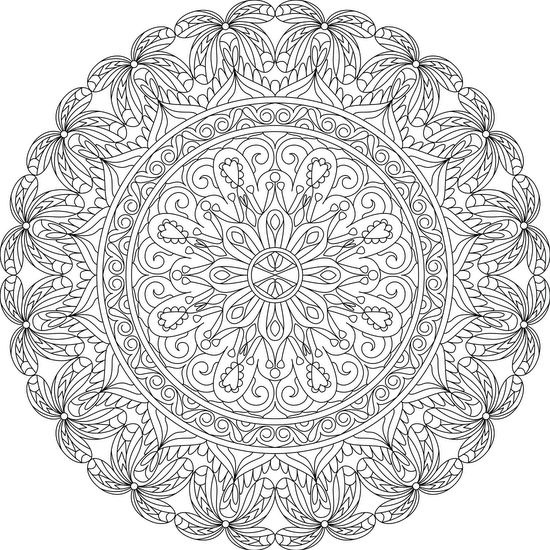 heart of lace free printable mandala coloring page adultcoloring mandalas coloring. Black Bedroom Furniture Sets. Home Design Ideas