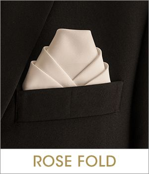 What a geometrically-pleasing pocket square!