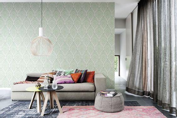 Tapet residens marrakech   blå, gröna & lila tapeter   rusta ...