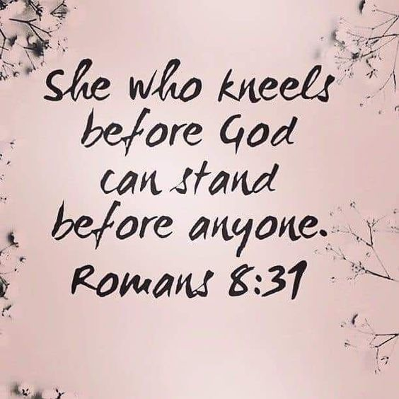 "Love in Faith on Instagram: ""She who kneels before God 🙋‍♀️ can stand anyone 🙌 We would be honored if you followed us @love.in.faith 💕 . . . . . . . #bibleverse…"""