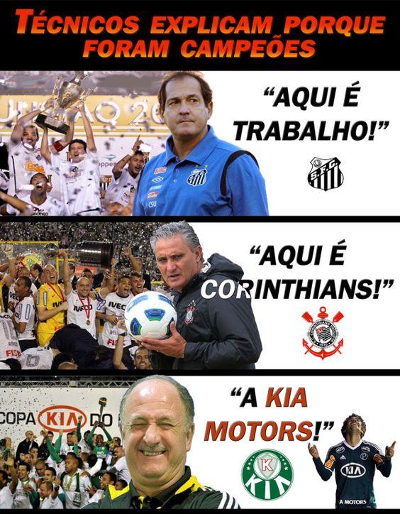#Futebol: Técnicos explicam porque foram campeões. #Santos #Corinthians #Palmeiras