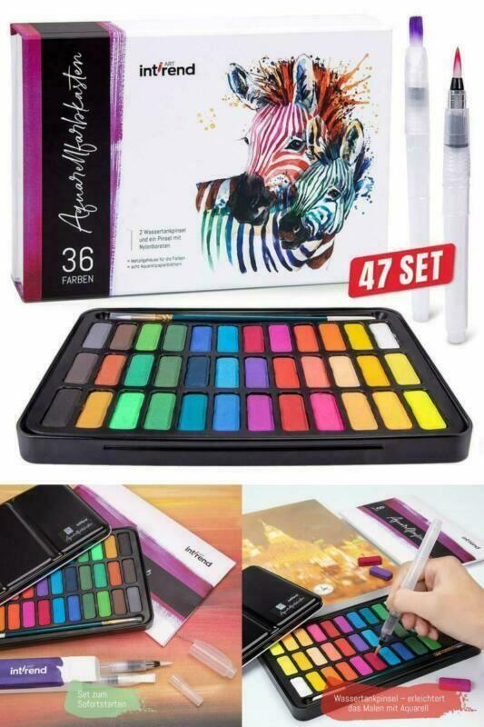 Aquarellfarbkasten Malkasten Wasserfarben Kunstfarben Mit