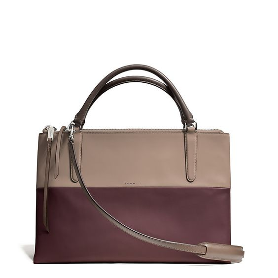 Coach Borough in Retro Colorblock Oxblood/Olive