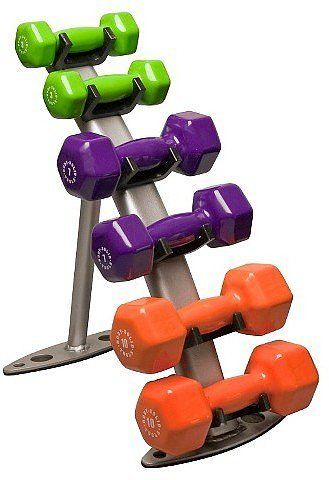 Body Solid Dumbbell Rack.