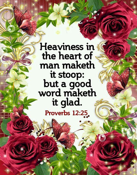 Proverbs 12:25 KJV