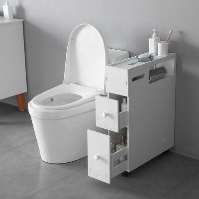 Winston Porter Suri 6 3 W X 27 56 H Cabinet Narrow Storage Cabinet Bathroom Floor Cabinets Small Bathroom Storage