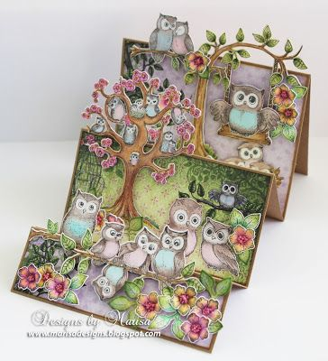 Designs by Marisa: Heartfelt Creations -Owl Hangout Step Card