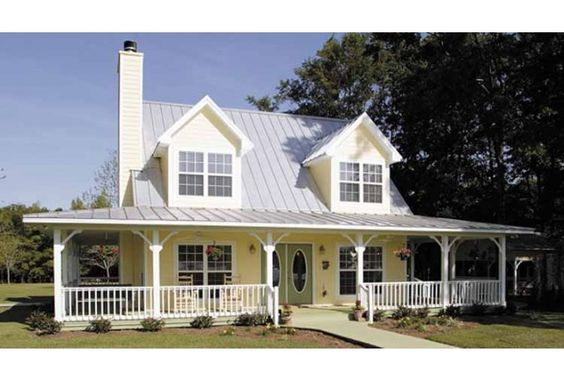 Pinterest the world s catalog of ideas for Open floor plans with wrap around porch