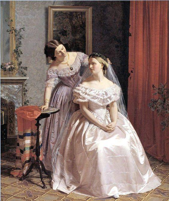 Henrik Olrik - La sposa assistita da un'amica - 1859.