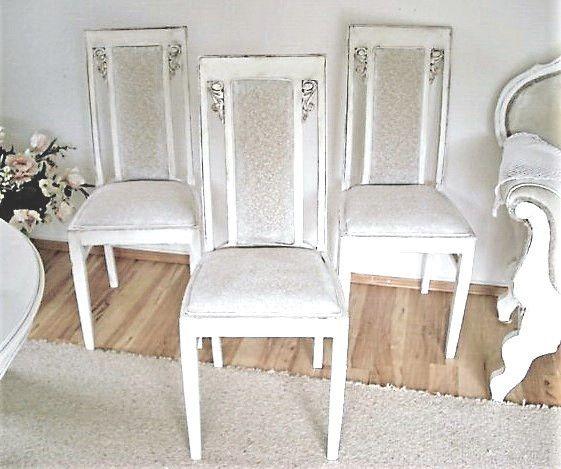 Vintage Stühle - Vintage Hochlehnerstühle SHABBY CHIC - ein Designerstück von PiaSonela bei DaWanda