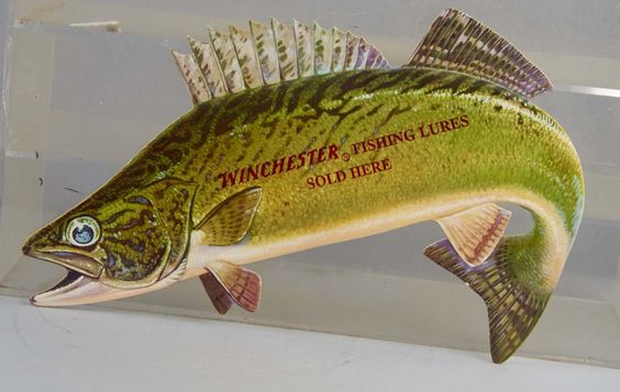 Winchester lures sign