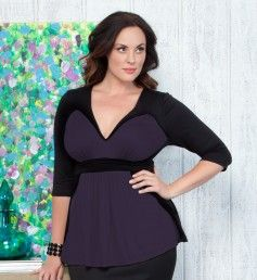 Color Block Top, Sizes 10-32W
