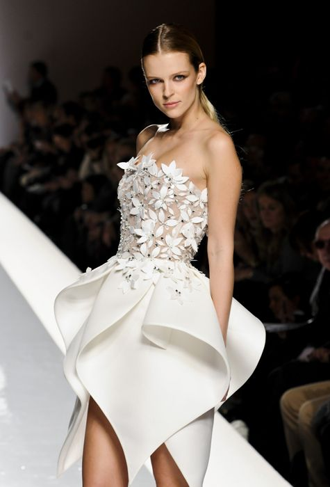 Sculptural Flower Petal Dress with pretty 3D contours // Fausto Sarli ss12