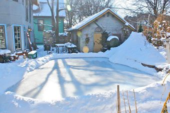 ice rink build your own and backyards on pinterest