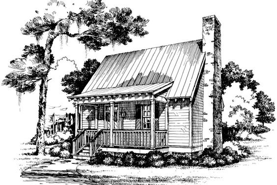 Gin cabin and small cabin plans on pinterest for Cabins under 1000 square feet