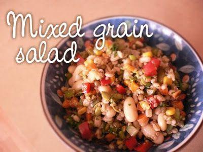 Mixed grain salad | Ayurveda Recipes | Pinterest | Grain Salad, Grains ...